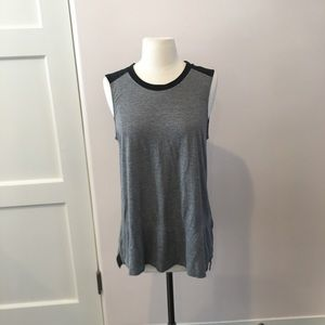 Vince gray and black tank in excellent condition